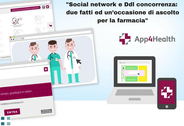 Social network e Ddl concorrenza. Due fatti ed un'occasione di ascolto per la farmacia media for health