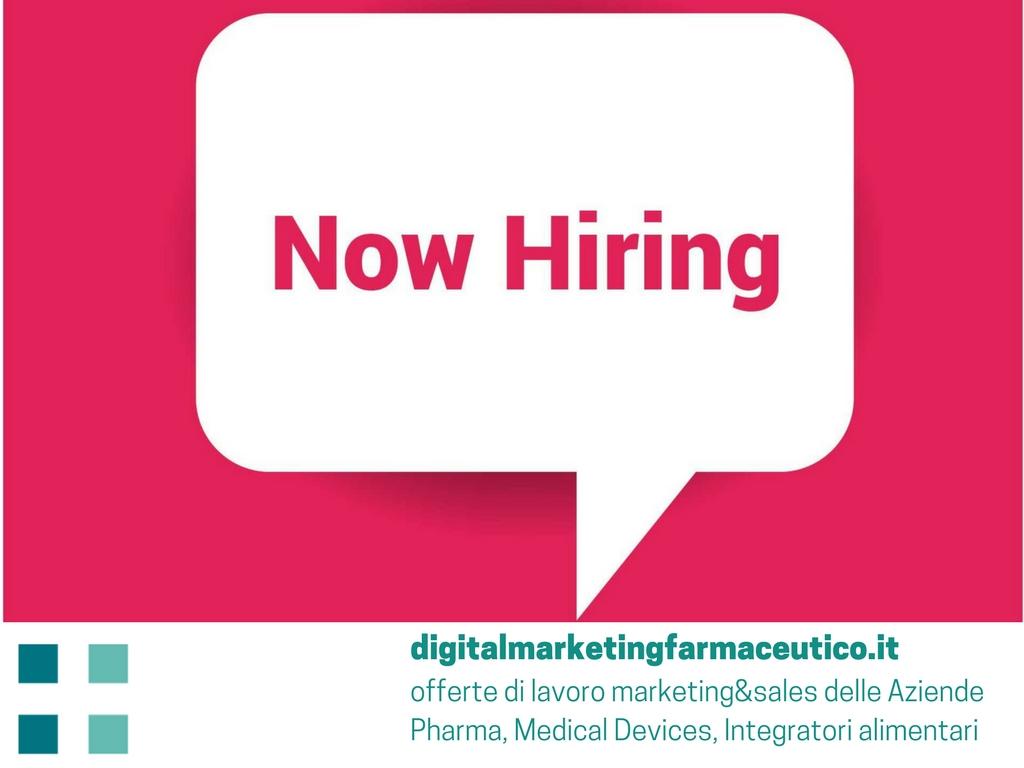 job in pharma offerte di lavoro marketing&sales delle Aziende Pharma, Medical Devices, Integratori alimentari digital marketing farmaceutico