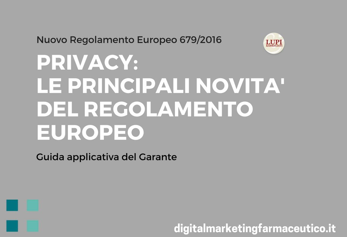 Regolamento Europeo sulla privacy digital marketing farmaceutico