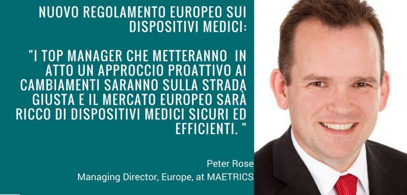 Regolamento europeo Peter Rose per Media For Health