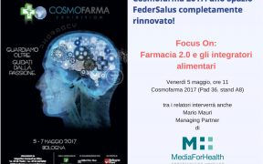 Farmacia 2.0 e gli integratori alimentari Media For Health