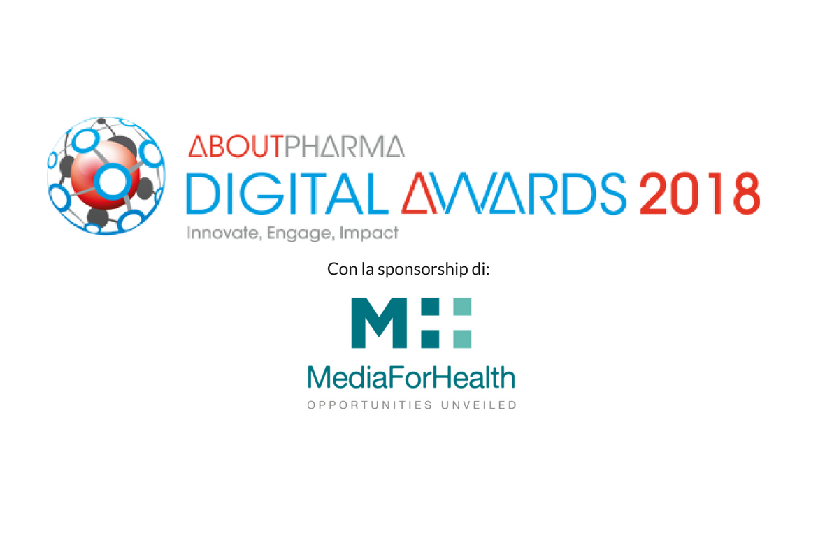 AboutPharma Digital awards 2018 Con la sponsorship di Media For Health