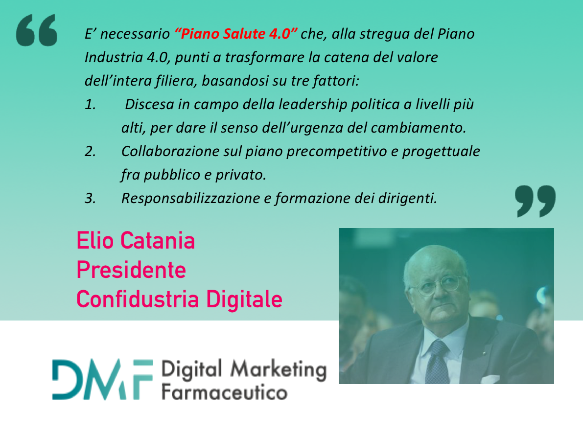 Elio Catania Piano salute 4.0 per digital marketing farmaceutico