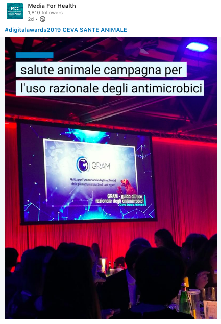 GRAM_salute animale_aboutpharma digital awards 2019