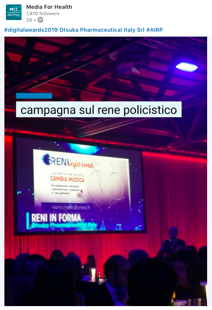 Reniinforma_renepolicistico_media for health_aboutpharma digital awards 2019